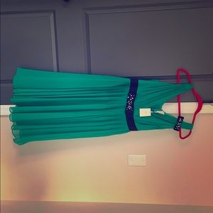 Green Kate Spade princess dress, has small pull